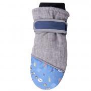 Szaro-niebieskie rękawiczki nieprzemakalne chłopięce 1P