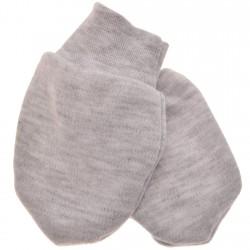 Szare NIEDRAPKI rękawiczki niemowlęce 56 62