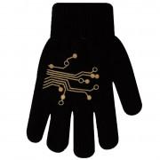 Zimowe rękawiczki chłopięce wełniane z ABS 5P wzór1C