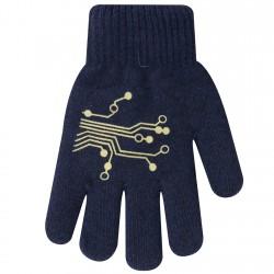 Zimowe rękawiczki chłopięce wełniane z ABS 5P wzór1G
