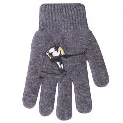 Zimowe rękawiczki chłopięce wełniane z ABS 5P hokeiataS