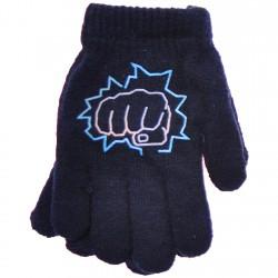 Zimowe rękawiczki chłopięce wełniane z ABS 5P pięśćG