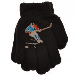 Zimowe rękawiczki chłopięce wełniane z ABS 5P hokeistaC