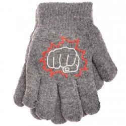 Zimowe rękawiczki chłopięce wełniane z ABS 5P pięśćS