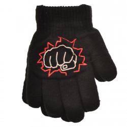 Zimowe rękawiczki chłopięce wełniane z ABS 5P pięśćC