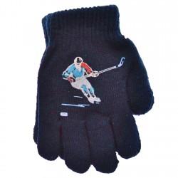 Zimowe rękawiczki chłopięce wełniane z ABS 5P hokeistaG