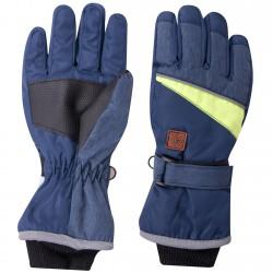 Granatowe rękawiczki narciarskie nieprzemakalne 5P 24cm