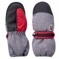 Szare rękawiczki nieprzemakalne chłopięce 1P 20cm