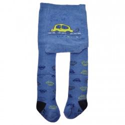 RAJSTOPY bawełniane niebieskie w auta wzór 423
