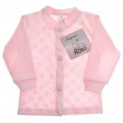 Różowy KAFTANIK w motylki koszulka bawełniana wzór 341R