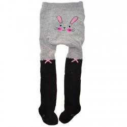 RAJSTOPY bawełniane szare z królikiem wzór 570