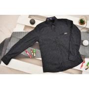 Czarna koszula chłopięca w białe wzorki długi rękaw  Kyupe