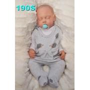 ŚPIOCHY ŚPIOSZKI bawełniane, szare w jeże, wzór 190S