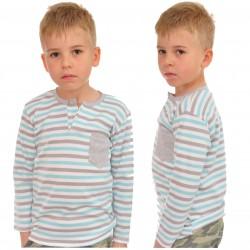 KOSZULKA POLO długi rękaw BLUZKA chłopiec wzór 267