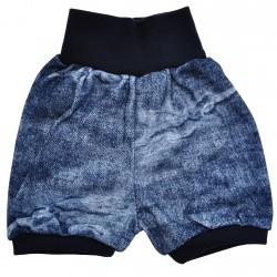 Granatowe spodenki TYMON wzór ciemny jeans LATO