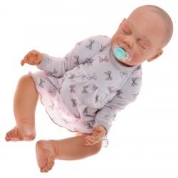 Biała BODY SUKIENKA niemowlęca w kokardki wzór 348S