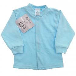 Błękitny KAFTANIK koszulka bawełniana