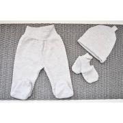 Szara WYPRAWKA dla noworodka do szpitala 5 części