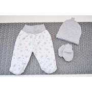 WYPRAWKA dla noworodka do szpitala 5 części szara w zwierzątka wzór 185S