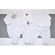 WYPRAWKA dla noworodka do szpitala 5 części biała w gwiazdki wzór 198B