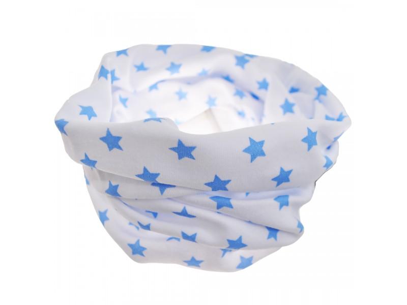 KOMIN bawełniany biały w gwiazdki wzór 156N
