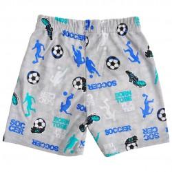 Szare KRÓTKIE SPODENKI Soccer cienkie SZORTY LATO