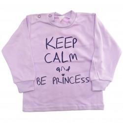 Fioletowa bluzeczka KEEP CALM AND BE PRINCESS