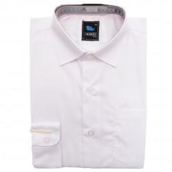 Biała gładka koszula chłopięca długi rękaw elegancka do szkoły
