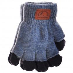 Niebieskie rękawiczki zimowe chłopięce podwójne 5P