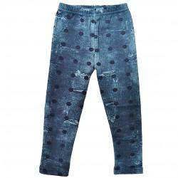 Niebieskie LEGGINSY ocieplane a'la jeans GETRY