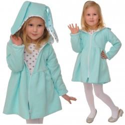 Płaszcz KRÓLIK MIĘTA płaszczyk pikowany 3-7 LAT