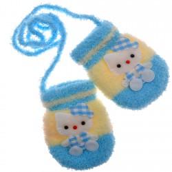 RĘKAWICZKI FROTTE NIEMOWLĘCE ZIMOWE  Kitty niebieskie