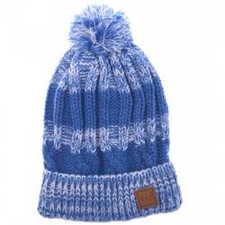 Czapka zimowa dla chłopca CZ-190 niebieska r. 48-50