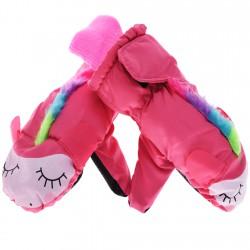 Nieprzemakalne rękawiczki Jednorożec kolor różowy