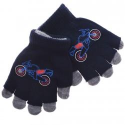 Zimowe rękawiczki podwójne Motor granatowe
