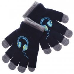 Zimowe rękawiczki podwójne SłuchawkiG 18cm 128 134