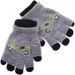 Zimowe rękawiczki podwójne MotorSZ 18cm 128 134