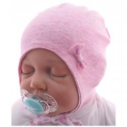 Czapka dla noworodka BETTY różowa