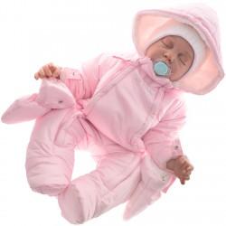 ZIMOWY KOMBINEZON ocieplany 2 suwaki r.68 kolor pink