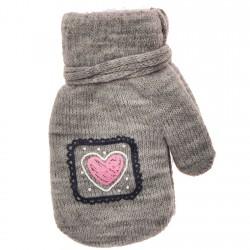 Rękawiczki dziewczęce z jednym palcem SerceS