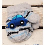 Zimowe rękawiczki frotte z maskotką AutoS