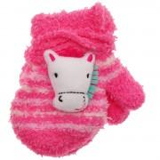 Zimowe rękawiczki frotte z maskotką KonikA