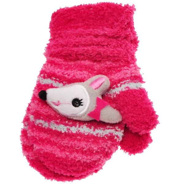Zimowe rękawiczki frotte z maskotką SarenkaA