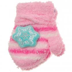 Zimowe rękawiczki frotte z maskotką ŚnieżkaR