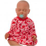 Czerwona BODY SUKIENKA niemowlęca w serca wzór 177C