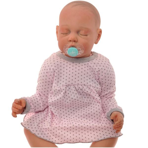 Różowa BODY SUKIENKA niemowlęca w kropki wzór 314R