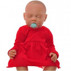 Body sukienka niemowlęca wzór czerwona w kropeczki