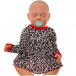 Body sukienka niemowlęca wzór panterka1