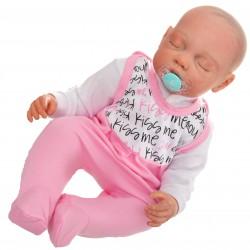 ŚPIOCHY ŚPIOSZKI bawełniane, różowe KISS ME wzór 303R