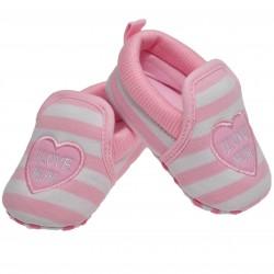 Buciki I love MUM 0-12M  buty NIECHODKI różowe
